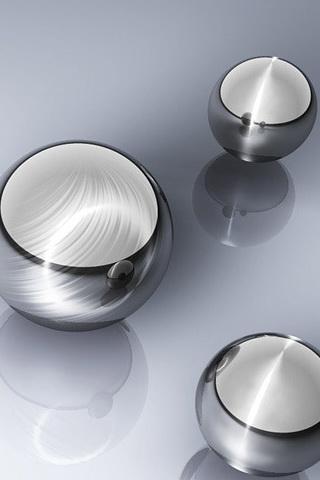 wallpaper iPhone Steel Spheres