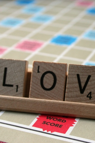 wallpaper iPhone Scrabble Love