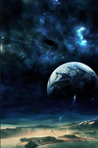 wallpaper iPhone Moonbase