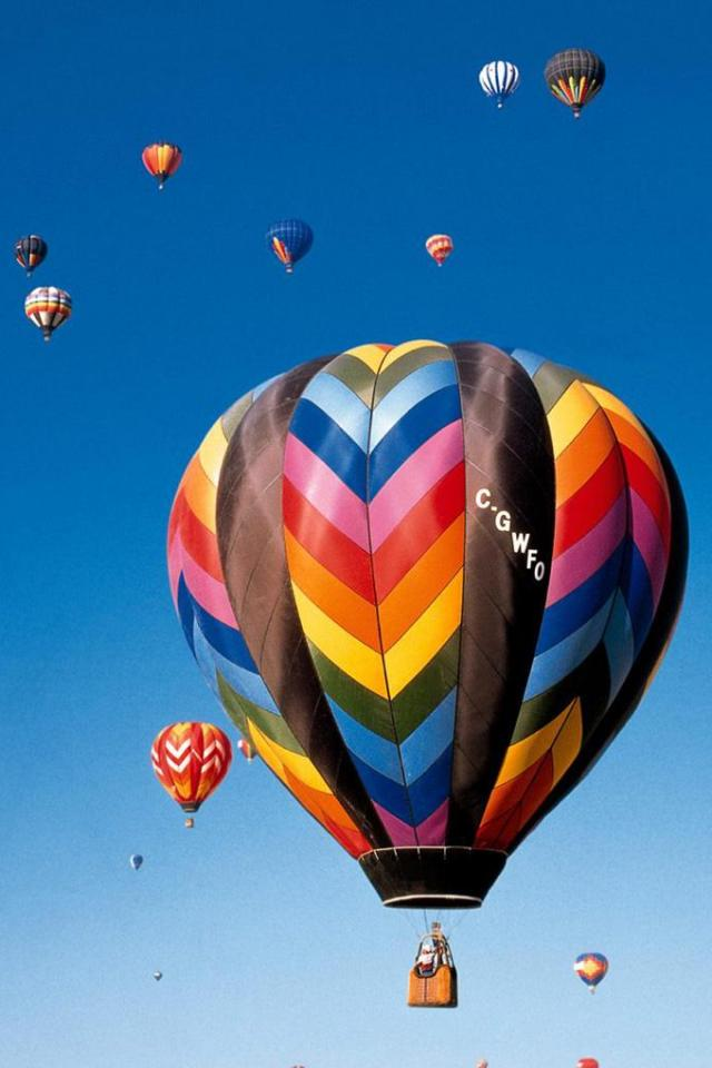 wallpaper iPhone Hot Air Balloons