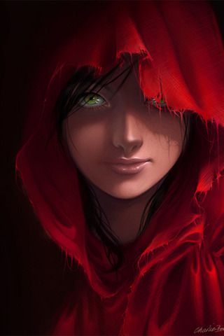 wallpaper iPhone Red Riding Hood