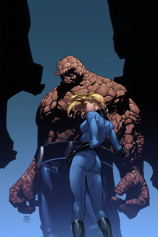 wallpaper iPhone Thing & Invisible Woman