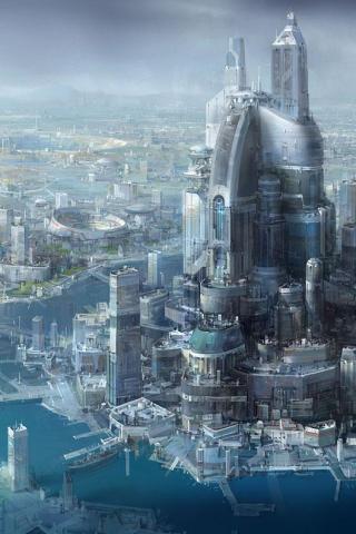 wallpaper iPhone Future City