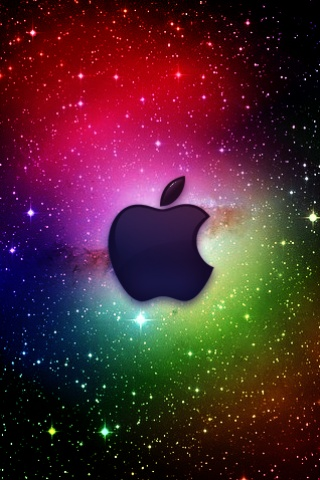 wallpaper iPhone Cosmic Apple