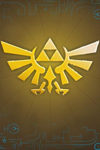 wallpaper iPhone Zelda Triforce