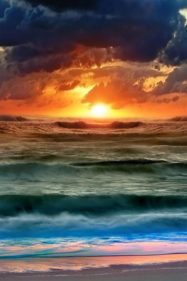 wallpaper iPhone Spectacular Sunset
