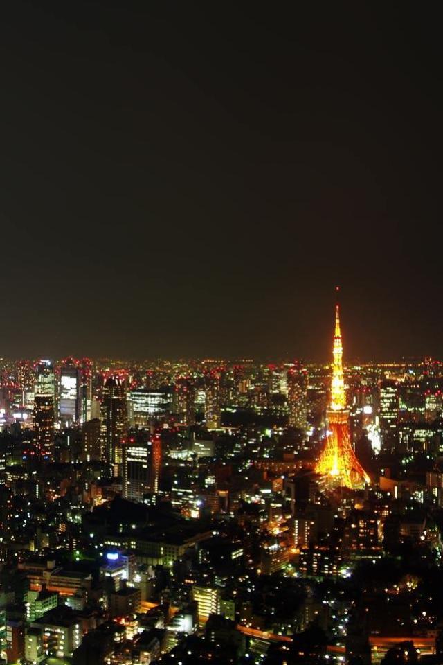 wallpaper iPhone Tokyo Night