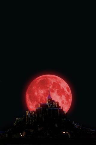 wallpaper iPhone Blood Moon