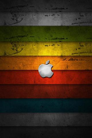 wallpaper iPhone Apple Colored Wood