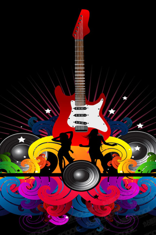 Wallpaper Iphone Colorful Music 641