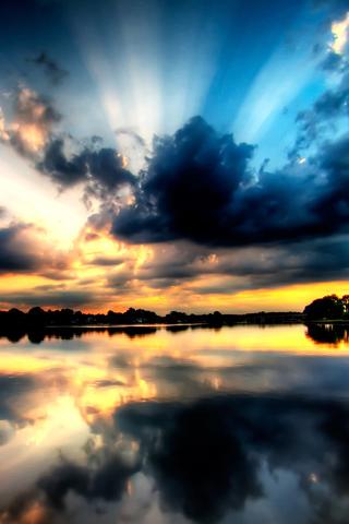 wallpaper iPhone Reflected Sky