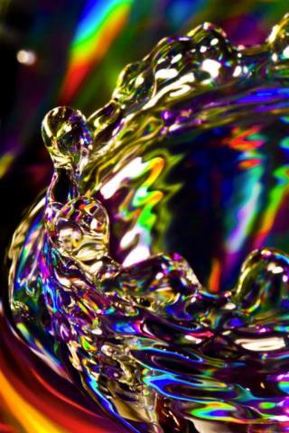wallpaper iPhone Colorful Splash