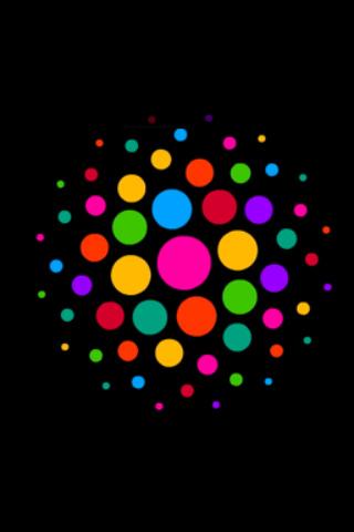 wallpaper iPhone Color Dots