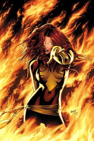 wallpaper iPhone Dark Phoenix