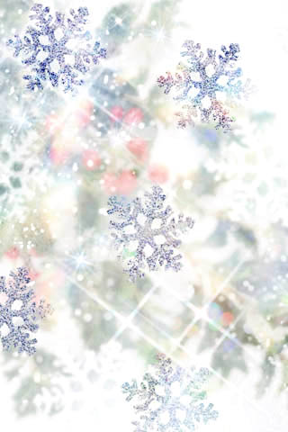 wallpaper iPhone Snowflakes