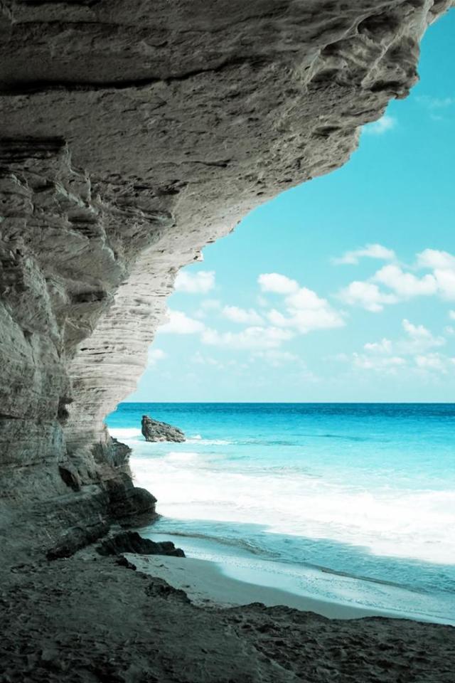 wallpaper iPhone Seaside Cliff