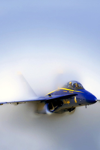 wallpaper iPhone Blue Angel Boom