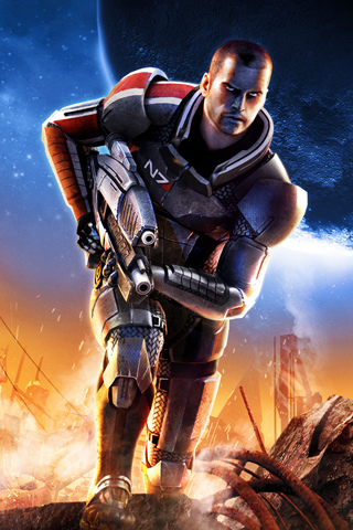 wallpaper iPhone Mass Effect 2