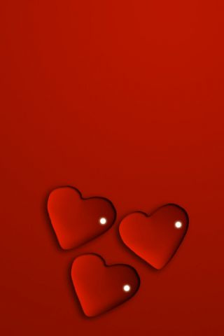 wallpaper iPhone Valentine Hearts
