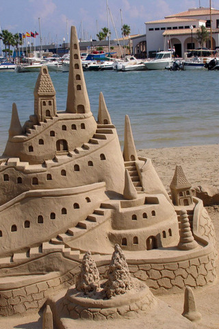 wallpaper iPhone Sandcastle