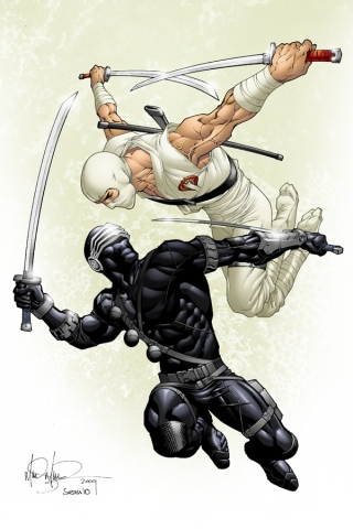wallpaper iPhone Snake Eyes vs Storm Shadow