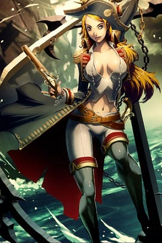 wallpaper iPhone Bonny Pirate