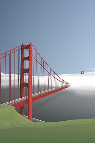 wallpaper iPhone Golden Gate