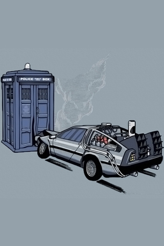 wallpaper iPhone Back to the Future