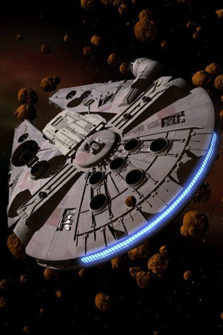wallpaper iPhone Millennium Falcon