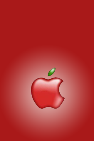 wallpaper iPhone Red Apple