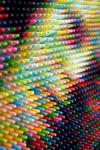 wallpaper iPhone Crayon Face