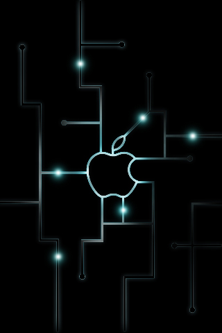 wallpaper iPhone Apple Techno