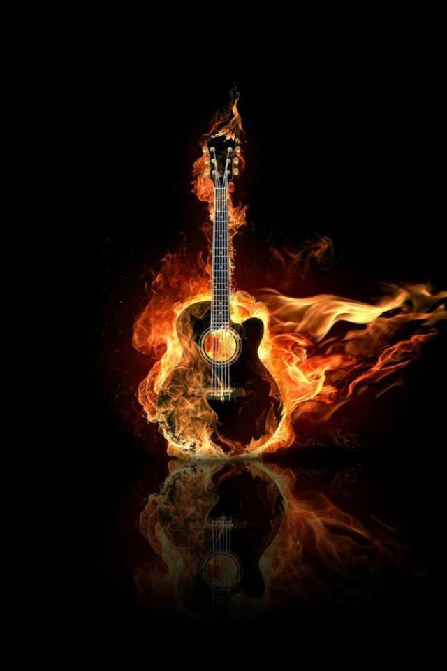 wallpaper iPhone Hot Guitar