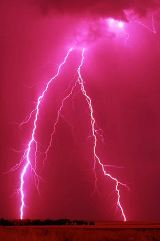 wallpaper iPhone Red Lightning