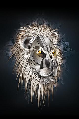 wallpaper iPhone Iron Lion