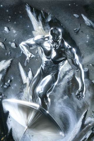wallpaper iPhone Silver Surfer