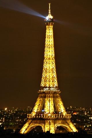 wallpaper iPhone Eiffel at Night