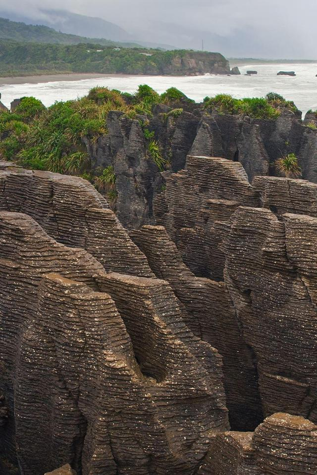 wallpaper iPhone Pancake Rocks