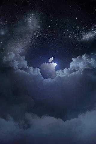 wallpaper iPhone Apple New Moon