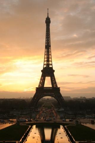 wallpaper iPhone Eiffel at Dusk