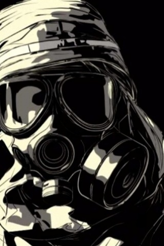 wallpaper iPhone Masked Soldier