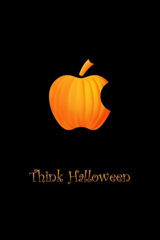 wallpaper iPhone Think Halloween