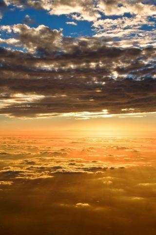 wallpaper iPhone Between the Clouds