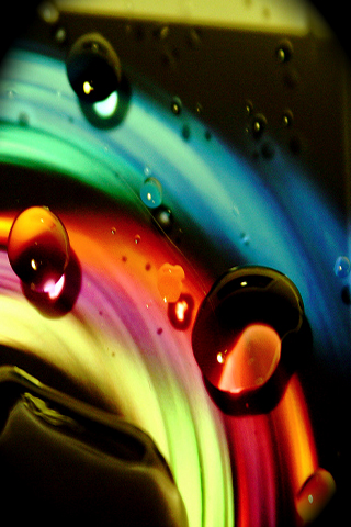 wallpaper iPhone Rainbow Drops