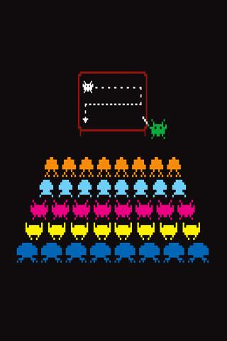 wallpaper iPhone Invader School