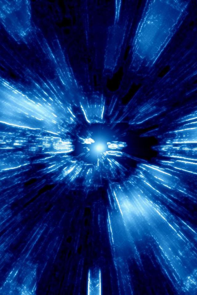 wallpaper iPhone Blue Warp