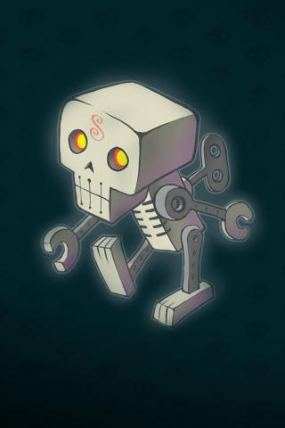 wallpaper iPhone Windup Skeleton