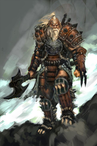 wallpaper iPhone Diablo III Barbarian