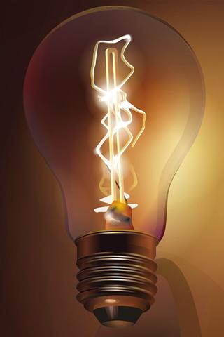 wallpaper iPhone Lightbulb