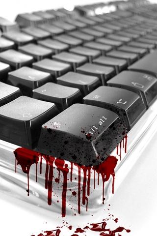 wallpaper iPhone Bloody Keyboard